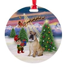 Christmas Tree and Shar Pei Ornament (Round)