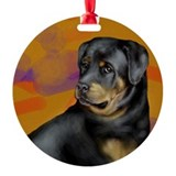 ROTTWEILER DOG Ornament (Round)