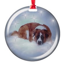Saint Bernard star Ornament (Round)