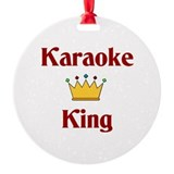 Karaoke King Ornament (Round)