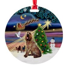 Xmas Magic Bloodhound Ornament (Round)