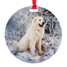 Great Pyrenees Christmas Ornament, Winterwood