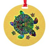Sea Turtle & Babies Ornament (Round)