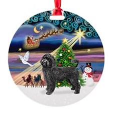 Xmas Magic & PWD (Retr) Ornament (Round)