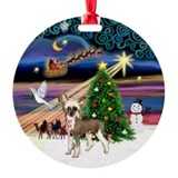 Xmas Magic Crested Ornament (Round)