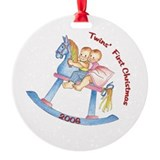 Horse Twins First Christmas 2006 Ornament (Round)