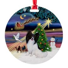 Xmas Magic & Papillon Ornament (Round)