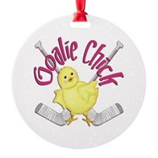 Goalie Chick Ornament (Round)