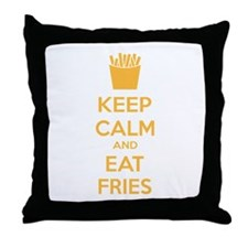 Keep calm and eat fries Throw Pillow
