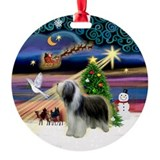 Xmas Magic Beardie Ornament (Round)