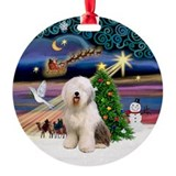 Xmas Magic & Old English Ornament (Round)