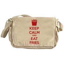 Keep calm and eat fries Messenger Bag