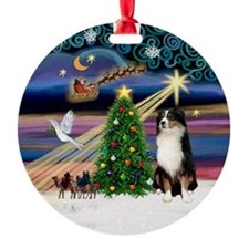 Xmas Magic & Aussie (#2) Ornament (Round)