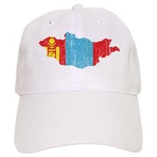 Mongolia Flag And Map Baseball Cap