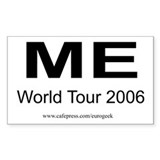 Me World Tour Eurogeek Rectangle Decal