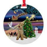 Xmas Magic & Lakeland Terrier Ornament (Round)