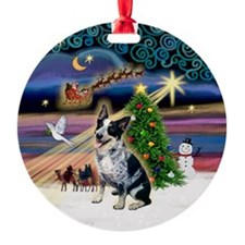 Xmas Magic & Aussie Cattle Dog Ornament (Ornament