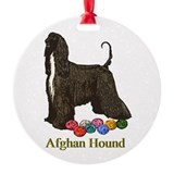 Afghan Hound Christmas Ornaments Ornament (Round)