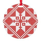 Red Classic Ornament (Round)