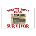 1965 Watts Riot Survivor Sticker (Rectangle)