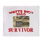 1965 Watts Riot Survivor Throw Blanket