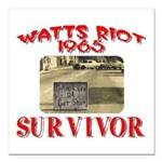 1965 Watts Riot Survivor Square Car Magnet 3