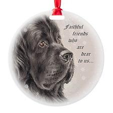 "Newfoundland ""Faithful Friends"" Ornament (Round)"
