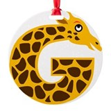 G is for Giraffe Ornament (Round)