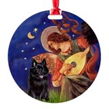 Mandolin Angel & Schipperke Ornament (Round)