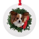 Papillon Keepsake/Ornament (Round)