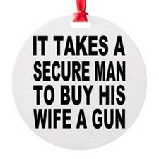 Secure Man 2 Ornament (Round)