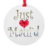 Just Maui'd Hibiscus Heart Ornament (Round)