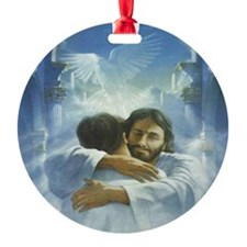 JESUS - HUG OF HEALING Ornament (Round)
