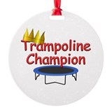 Trampoline Champ Ornament (Round)