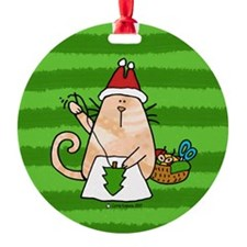 santa's little helper Ornament (Round)