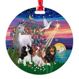 Magical Night &amp; 3 Cavaliers Ornament (Round)