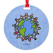 One world, one people Ornament (Round)