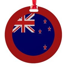 """New Zealand Flag"" Ornament (Round)"