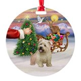 Santa's Treat for Glen of Imaal Ornament (Round)