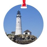 Boston Lighthouse Ornament (Round)