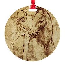 Leonardo da Vinci Horse Rider Christmas Ornament
