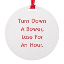 Turn Down Bower Ornament (Round)