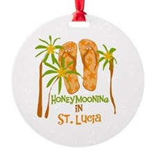 Honeymoon St. Lucia Ornament (Round)