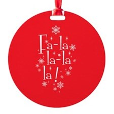 Red Fa-la-la Ornament (Round)
