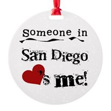 San Diego Loves Me Ornament (Round)