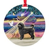 Xmas Star & PWD (Blk) Ornament (Round)