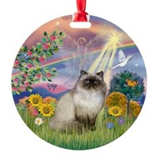 Cloud Angel & Himilayan Cat Ornament (Round)