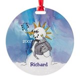 Punk Rocker Snowman Ornament Personalized Richard