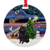 Xmas Magic & Schipperke Ornament (Round)