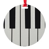 Piano Keyed Ornament (Round)